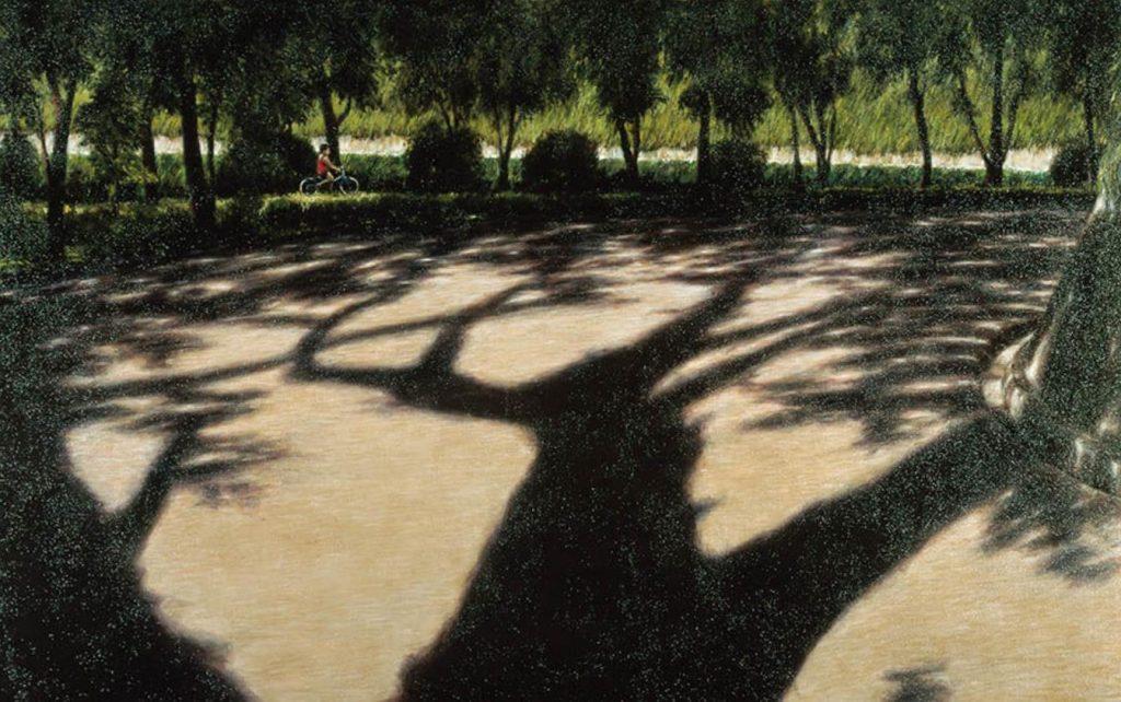 《八月の陰影》 1997年 油彩・キャンバス 162.1×259.1cm