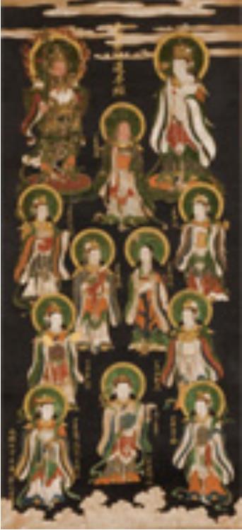 [重要文化財] 鬼子母神十羅刹女像 長谷川等伯筆 室町・永禄7年(1564) 富山 大法寺 <後期>